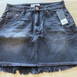One Teaspoon Distressed Black Denim Skirt *NWT*